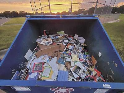 Disposal method criticized for outdated books