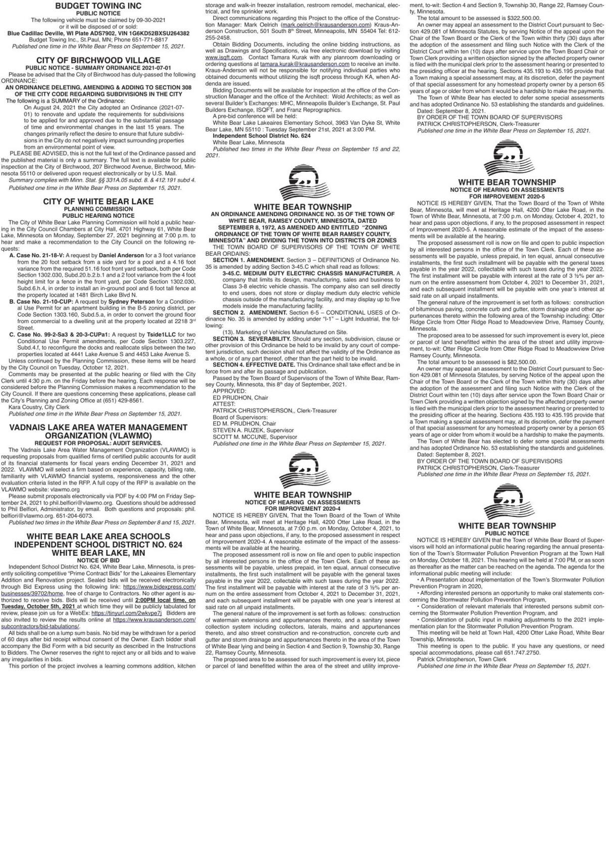 Legals WB 9-15-21