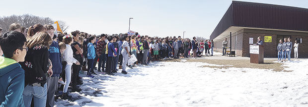 Middle school students stand up for school safety