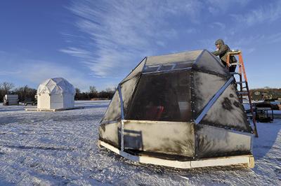 Art Shanties return to frozen White Bear Lake