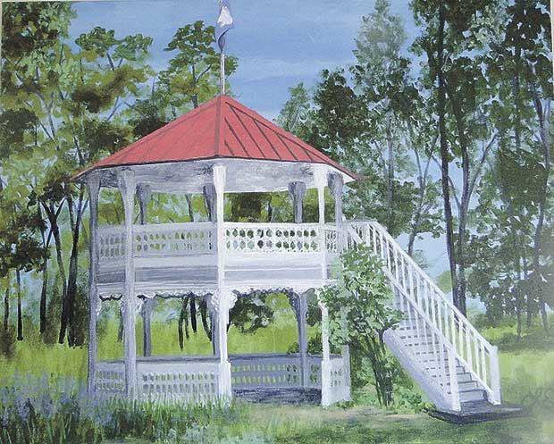 Retired art teacher paints the town