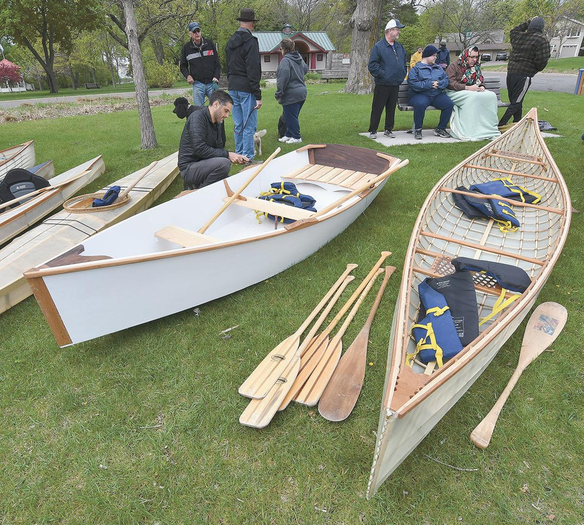 Student boat builders test their creations