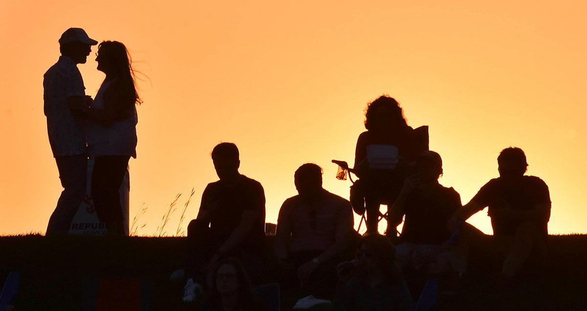 Watching the sun set on summer