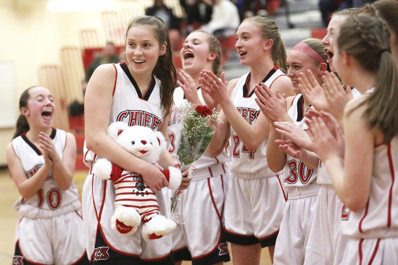 Couture hits milestone, leads Saranac to victory