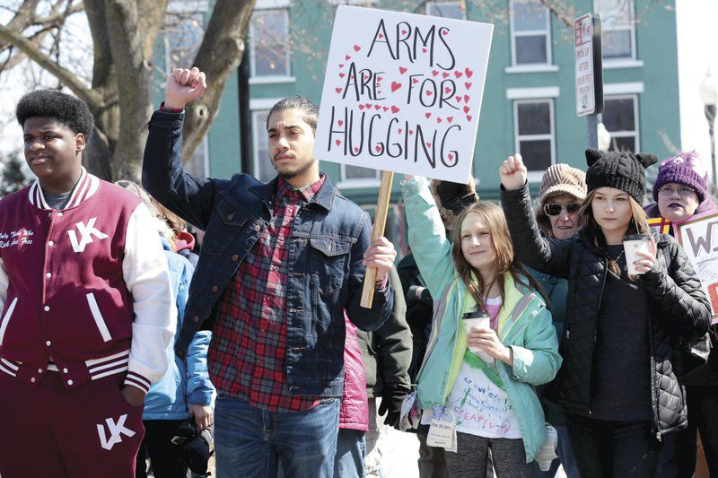 Hundreds march in Plattsburgh for gun control