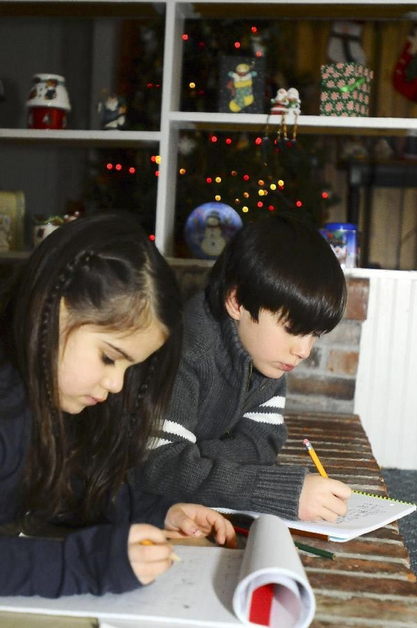 All i want for christmas is local news pressrepublican olivia weaver 5 and nicholas helmer 8 of morrisonville write letters to santa claus olivia asked for barbies a pony and a movie and nicholas asked spiritdancerdesigns Gallery