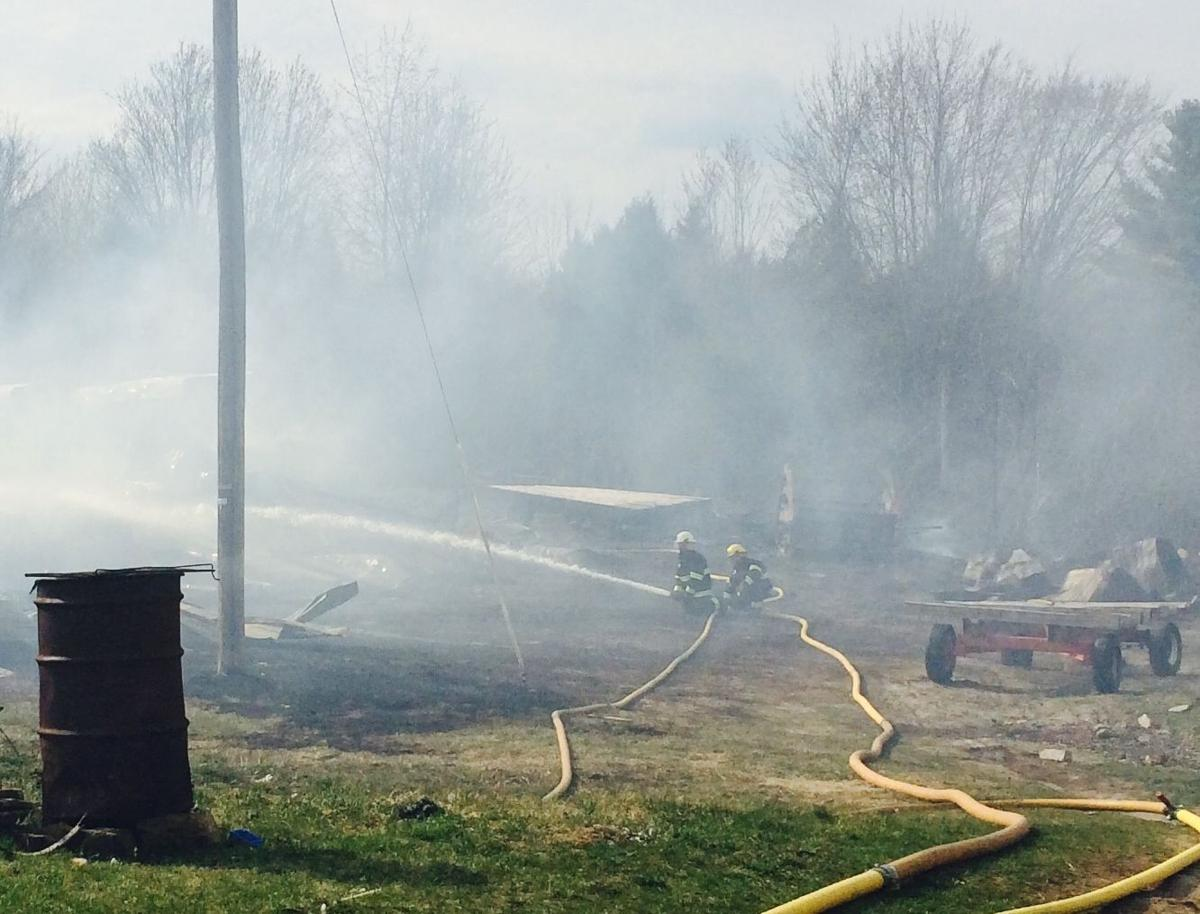 New york clinton county chazy - Firefighters Battle A Barn Fire At 422 Lavalley Road Monday In Chazy The Fire Destroyed Two Barns And Burned The Surrounding Trees And Grasses