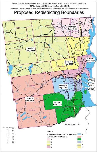 Clinton County to re draw legislative districts