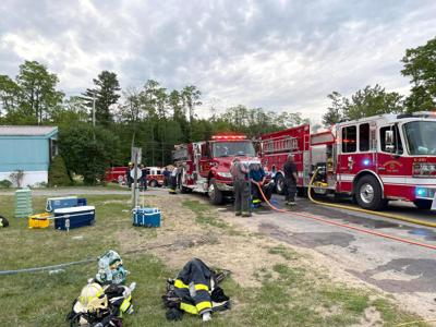 Two displaced by Morrisonville fire