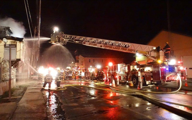 Fire seriously damages Tupper Lake building
