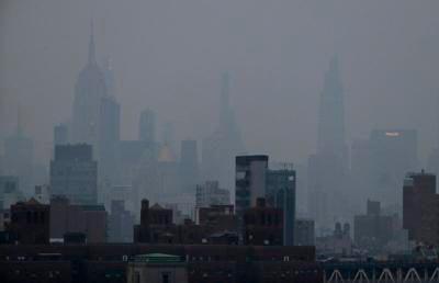 Wildfire smoke clouds sky, hurts air quality on East Coast