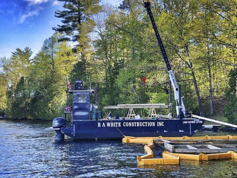 Barge sets sail on Lake George