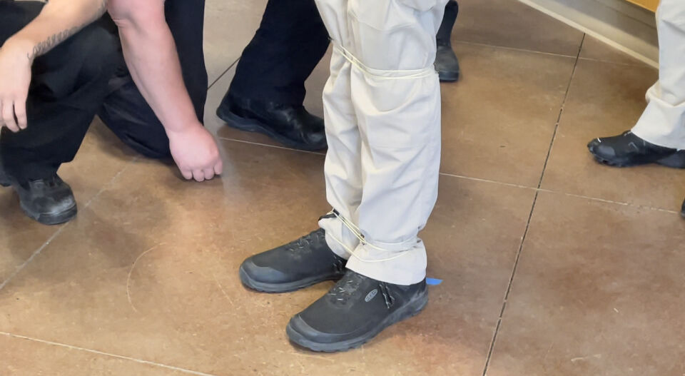 That's a wrap: Police see demonstration of BolaWrap restraint device