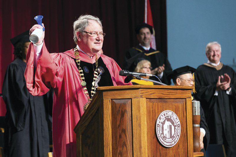 SUNY Plattsburgh president presides over final graduation