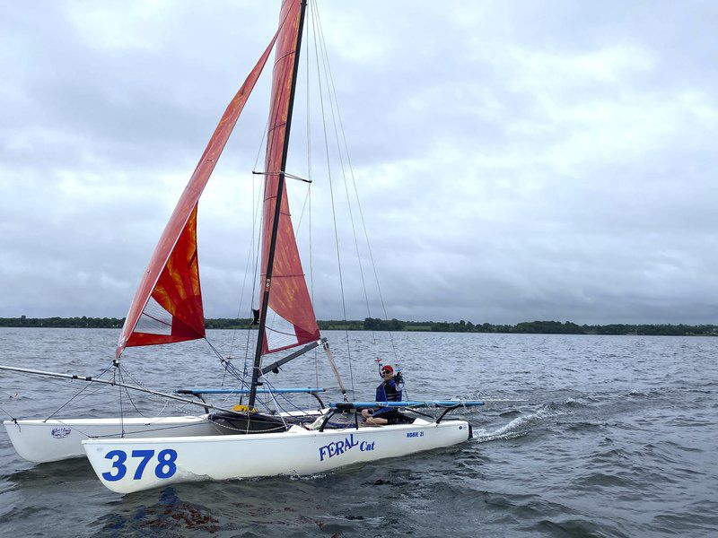 SAIL AWAY: Odinn defends Mayor's Cup title