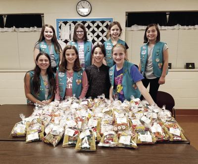 GIRL SCOUTS HELP CANCER PATIENTS
