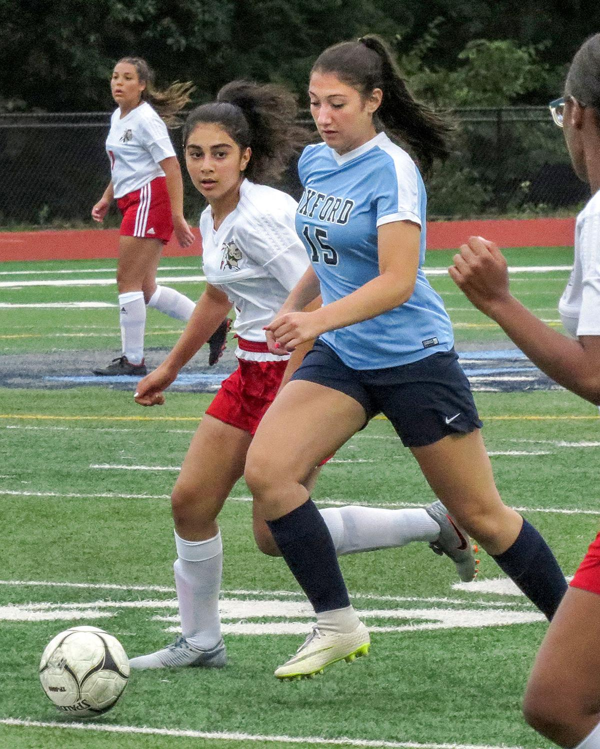 Oxford Girls' Soccer Team Shuts Out Derby