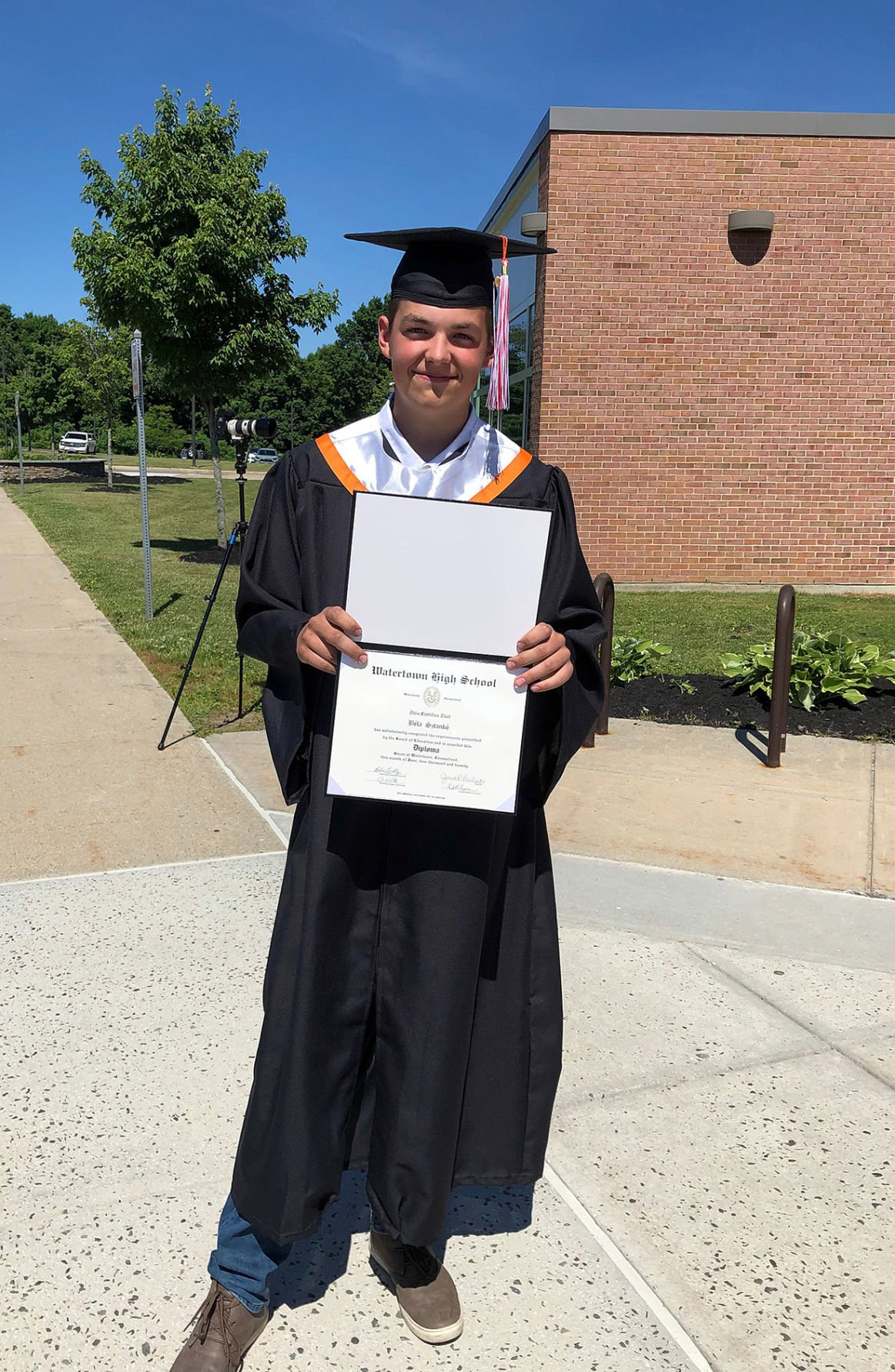 For Watertown High School: Graduates Honored Under Clear Blue Skies at Unconventional Ceremony