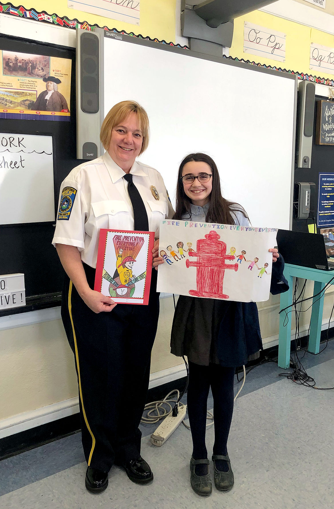 Fire Prevention Poster Contest: Students Place in Statewide Contest
