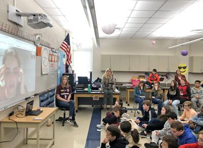 At Thomaston High School: Seventh Graders Skype with Australian