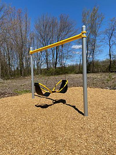 For Veterans' Park: Rotary Donates Friendship Swing Set