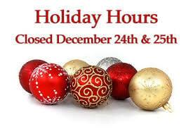 Transfer Station Closed Christmas Eve