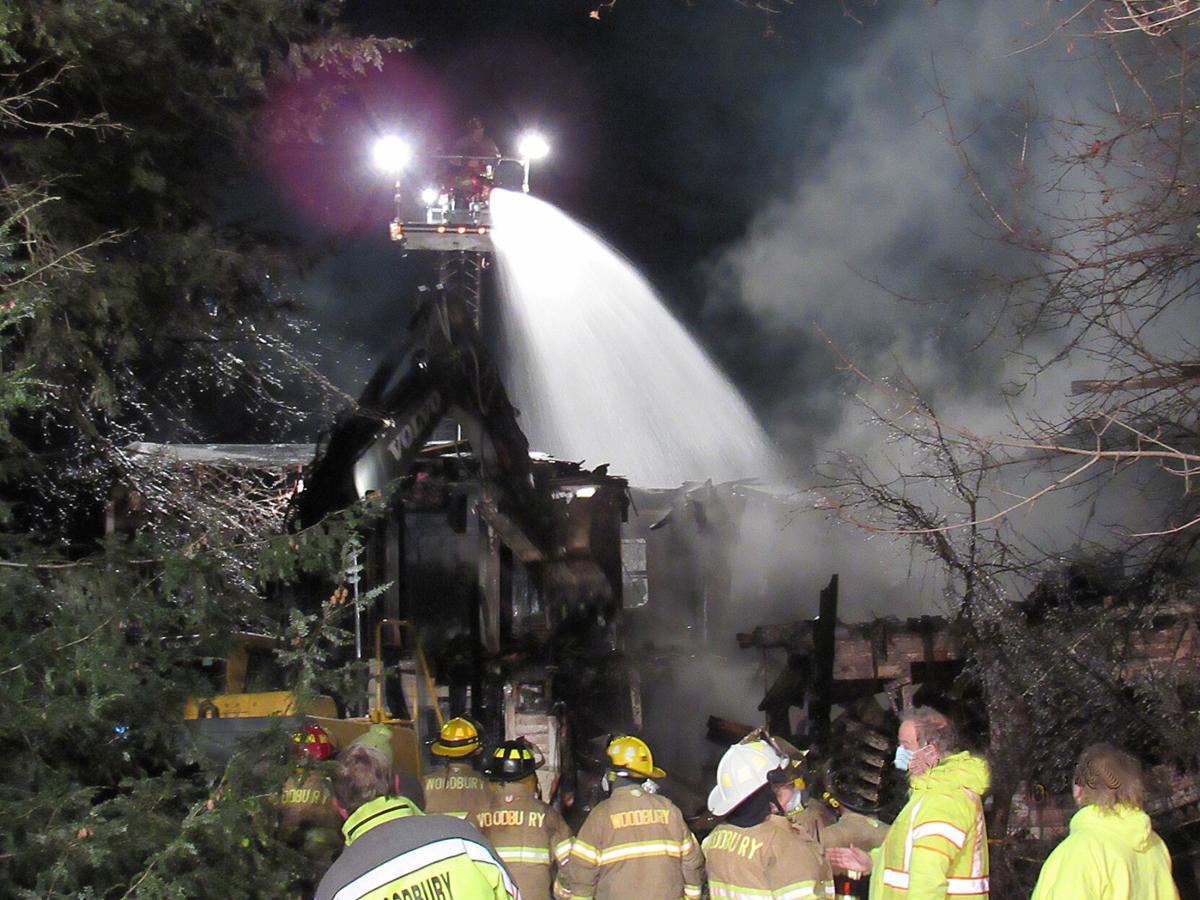 Midnight Blaze Destroys House in Woodbury