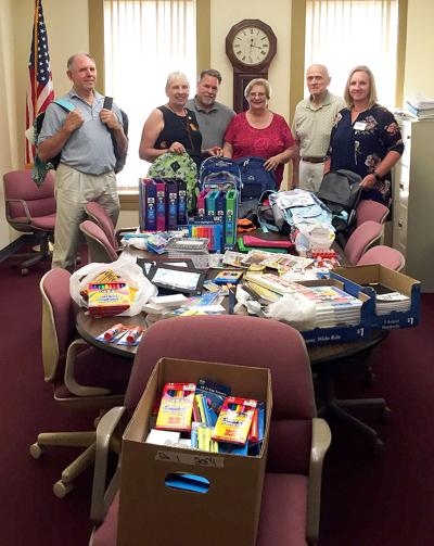 ROTARY DONATES SCHOOL SUPPLIES