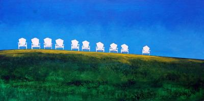 At the Southbury Public Library: Two Painters' Artwork on Display
