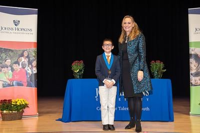 At Johns Hopkins University: Area Student Honored by CTY
