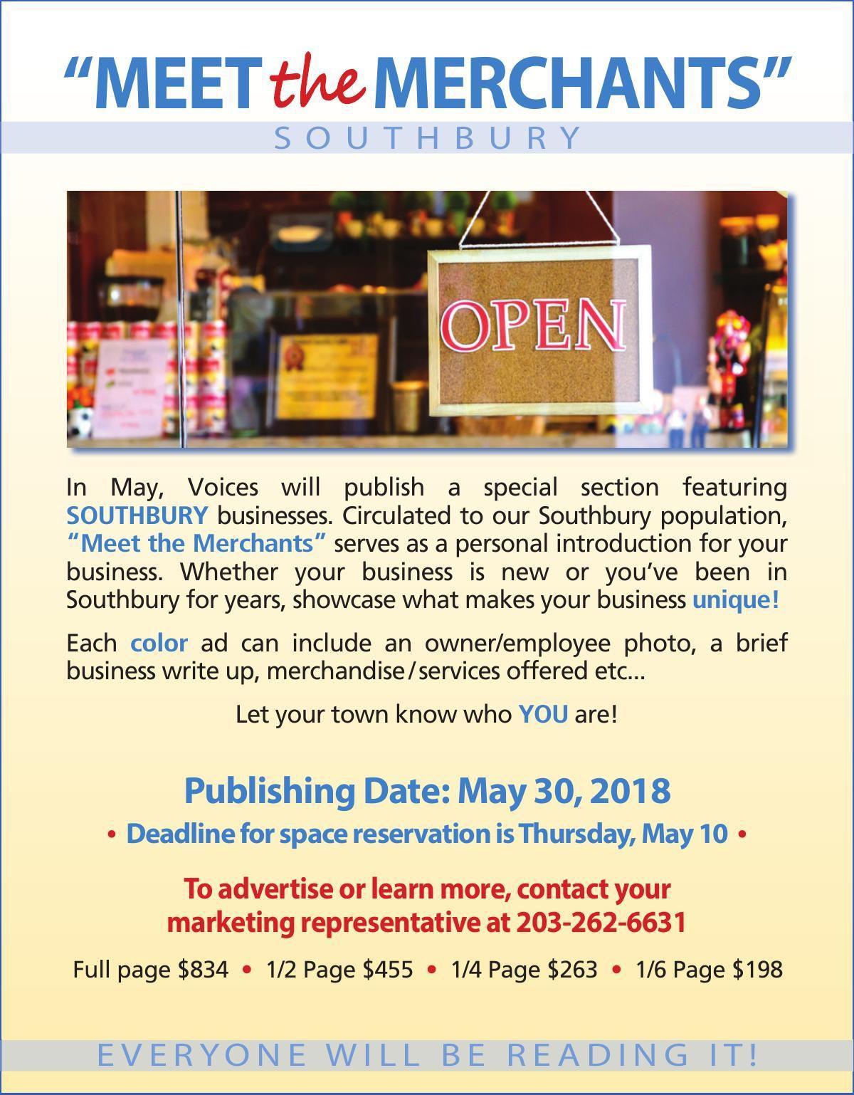 Meet the Southbury Merchants 2018