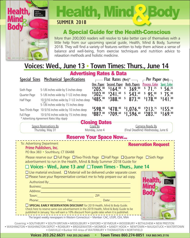 Health, Mind & Body Summer 2018