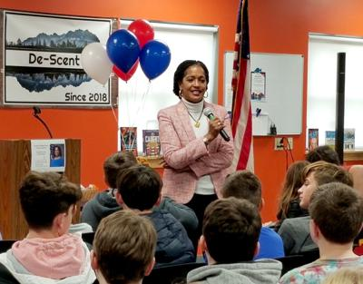 WMS Visit Confirms Congresswoman's Teacher Credentials