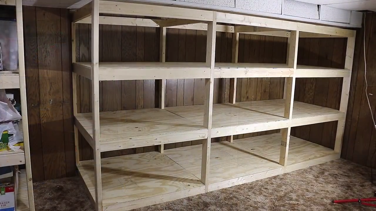 Project Lab Giant Diy Shelves For Your Basement Or Garage