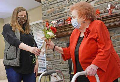 Valentine's flowers for nursing home residents