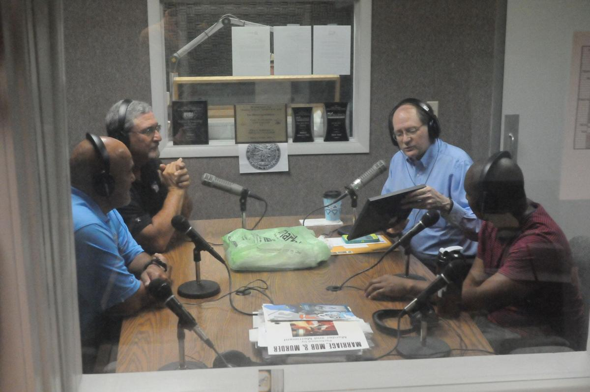 Discussing on the air
