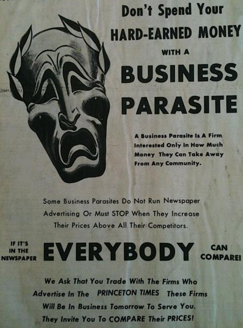 From the August 15, 1968 Archives - Times promotes buying locally