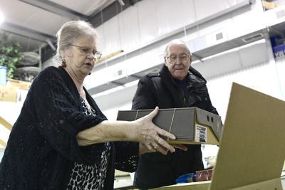 Building charity shoeboxes