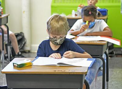 Kids in classrooms