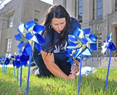 Pinwheels at the Courthouse