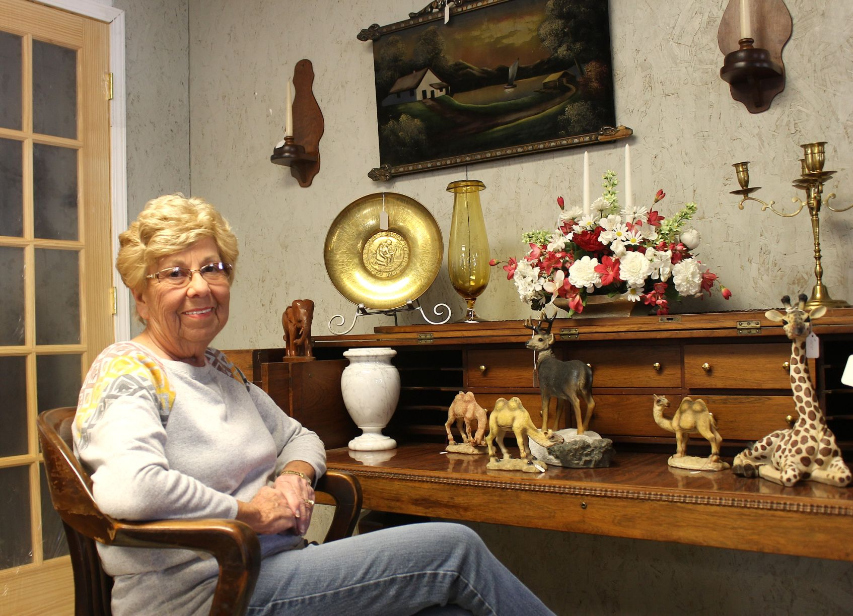 Beautiful Jean White, Owner Of The Furniture Barn, Sits At A Desk Made From A Baby  Grand Piano At Her Store On Dan Hale Reservoir Road. The Business Is Open  Wednesday ...