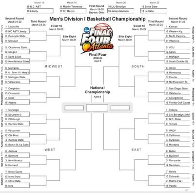 NCAA Tournament Bracket 2013