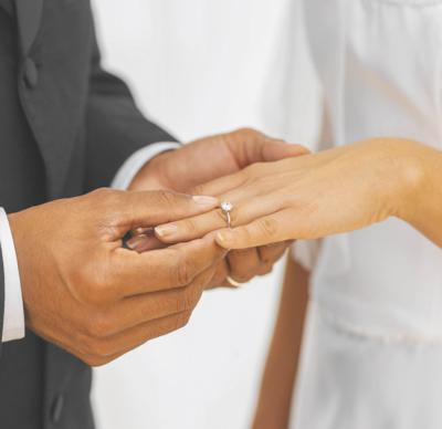 Marriage license illlustration