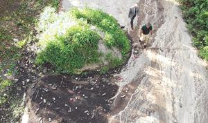 Filthy sludge dump  caught on video 2