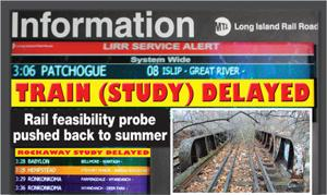 Rail study results are delayed ... yet again 1