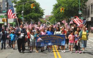 Sunnyside flag parade 1