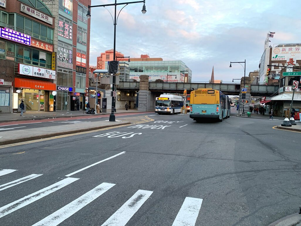 Flushing busway grace period officially over 1