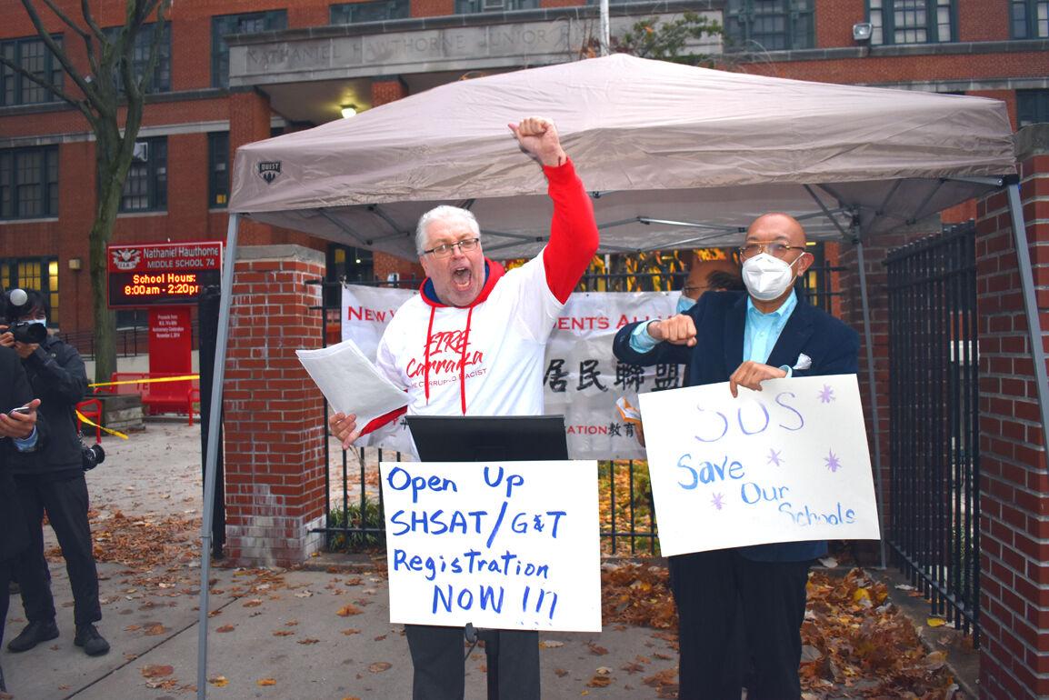 Parents protest delays on SHSAT, G&T tests 1