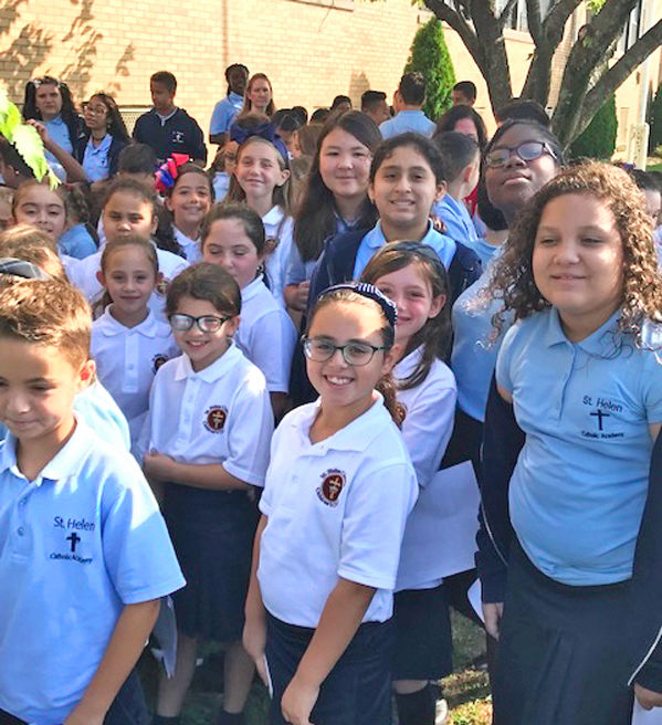 St. Helen Catholic Academy's September 11 Memorial Rock Garden 1