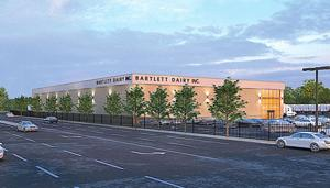 <p>An architect's rendering shows the new Bartlett Dairy complex being planned for Springfield Gardens by fall 2020.</p>